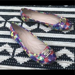 ISOLA Textured Ballet Flats Multi Colored -6.5M